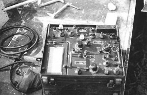 VC radio. It appeared to have originally been a American Korean War vintage, that had French nameplates riveted to it. It had been extensively modified.